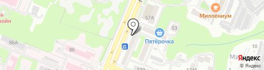 Почтовое отделение №33 на карте Брянска