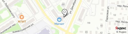 Эрнисеевский на карте Петрозаводска