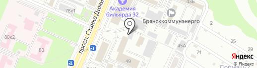 Центр материально-технического обеспечения Федеральной противопожарной службы по Брянской области на карте Брянска