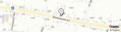 Цветы на Бежицкой на карте Брянска