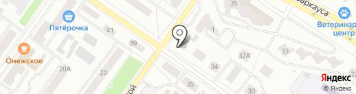 Исток на карте Петрозаводска