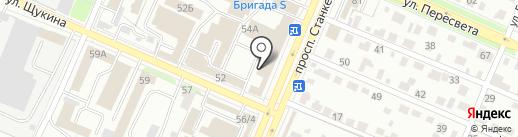 База - Р на карте Брянска