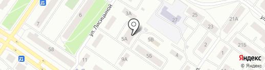 Заводской на карте Петрозаводска