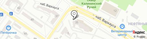 Магазин тканей и швейной фурнитуры на карте Петрозаводска