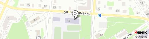 Средняя общеобразовательная школа №11 на карте Петрозаводска