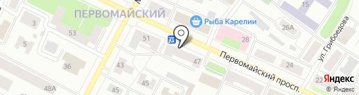 Магазин газового оборудования на карте Петрозаводска