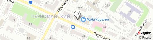 Магазин головных уборов на карте Петрозаводска