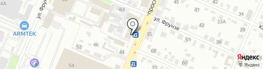 Баня №3 на карте Брянска