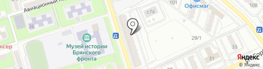 Пикашов на карте Брянска