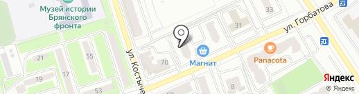 Маруся на карте Брянска