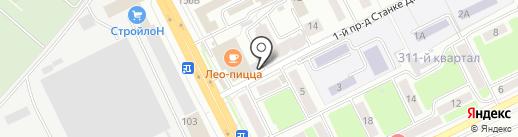 Мастерская шиномонтажа на карте Брянска