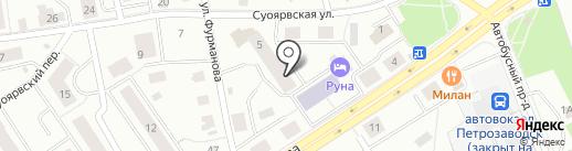 Шампань на карте Петрозаводска