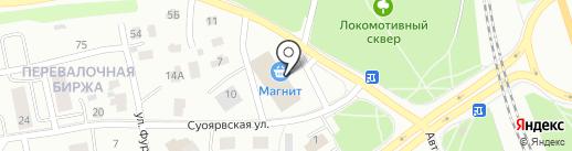 Карельское профессиональное аварийно-спасательное формирование на карте Петрозаводска