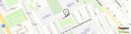 Служба мойки ковров на карте Брянска