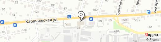 ТракБелл на карте Брянска