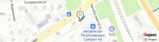 МИГ на карте Петрозаводска