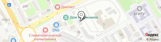 Брянское троллейбусное Управление, МУП на карте Брянска