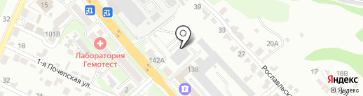 Толмач на карте Брянска