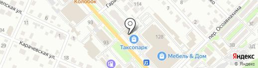 Метробетон на карте Брянска