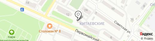 Винтажный дворик на карте Петрозаводска