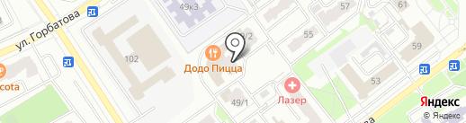 Магнит у дома на карте Брянска