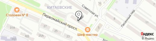 Фирма СТРОИТЕЛЬ на карте Первомайского