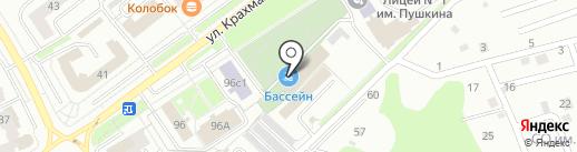 Брянский городской лицей №1 им. А.С. Пушкина на карте Брянска