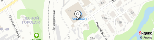 Магазин автосвета на карте Петрозаводска