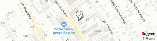 ВДВ на карте Брянска