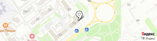 Брянский областной суд на карте Брянска