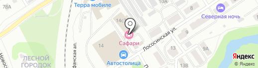 Сафари на карте Петрозаводска