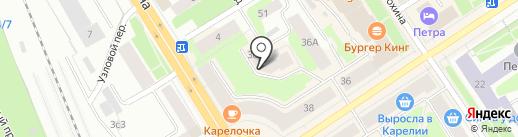 Энергия на карте Петрозаводска