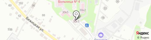 Брянская городская больница №4 на карте Брянска