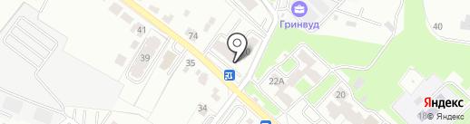 Премьер на карте Брянска