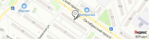 Чешский домик на карте Петрозаводска