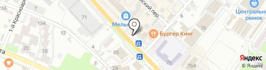 Отличные наличные на карте Брянска