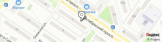 Буквоед на карте Петрозаводска