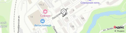 NOVA на карте Петрозаводска