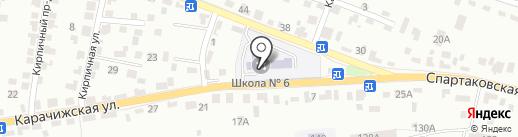 Средняя общеобразовательная школа №6 на карте Брянска