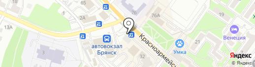 Киоск табачной продукции на карте Брянска