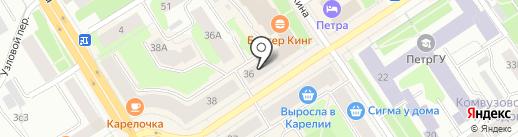 СувенировЪ & Сувенирный бутик на карте Петрозаводска