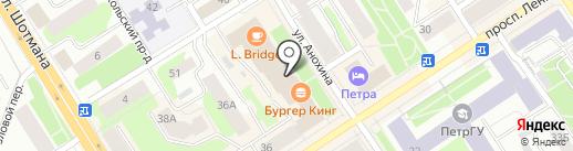 Игруля на карте Петрозаводска