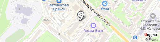 Русский займ на карте Брянска