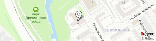 Онего на карте Петрозаводска