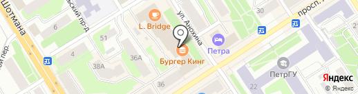 Юлмарт на карте Петрозаводска
