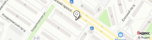 Солодовъ на карте Петрозаводска