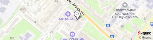 Платежный терминал, Русфинанс банк на карте Брянска
