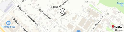 Центральный рынок на карте Брянска