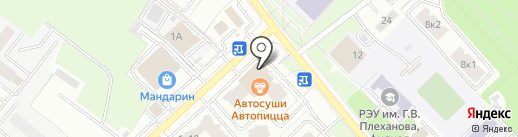 Янтарный на карте Брянска
