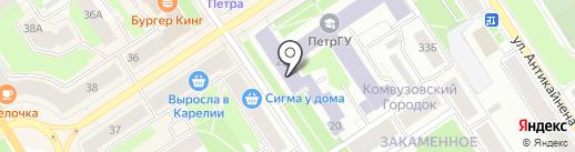 Региональный центр новых информационных технологий на карте Петрозаводска